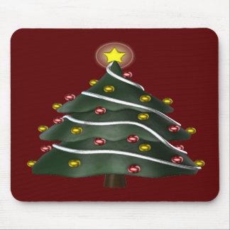 árbol de navidad Estrella-rematado Mousepad Alfombrilla De Raton