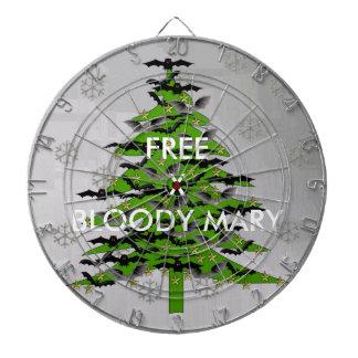 Árbol de navidad extravagantemente tabla dardos