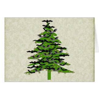 Árbol de navidad extravagantemente tarjeta pequeña