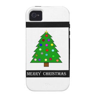 Árbol de navidad (Felices Navidad) iPhone 4 Carcasa