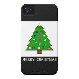 Árbol de navidad (Felices Navidad) Case-Mate iPhone 4 Funda