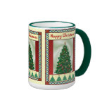 Árbol de navidad, felices Navidad Tazas