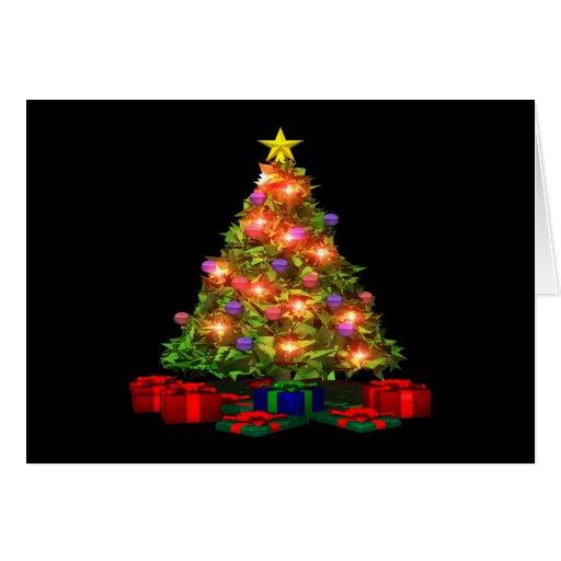 Árbol de navidad felicitacion