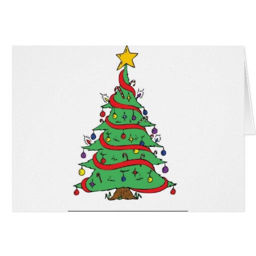Árbol de navidad felicitación