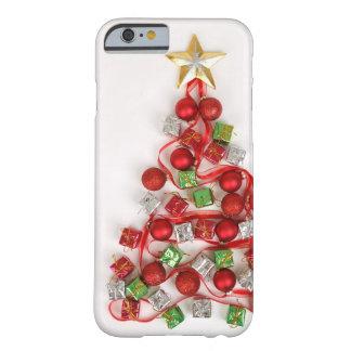 Árbol de navidad festivo funda de iPhone 6 barely there