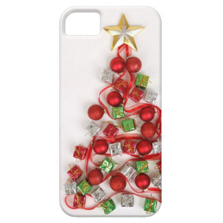 Árbol de navidad festivo funda para iPhone 5 barely there