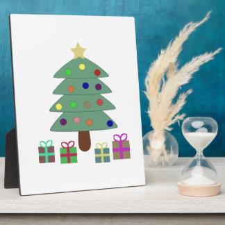 Árbol de navidad festivo placa