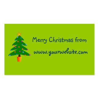 Árbol de navidad festivo verde tarjetas de visita