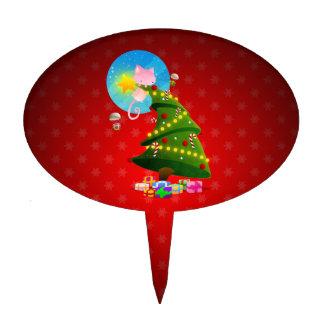 Árbol de navidad figuras de tarta