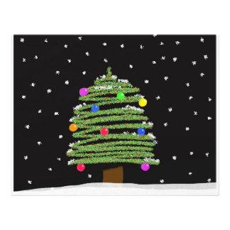 Árbol de navidad tarjetas publicitarias