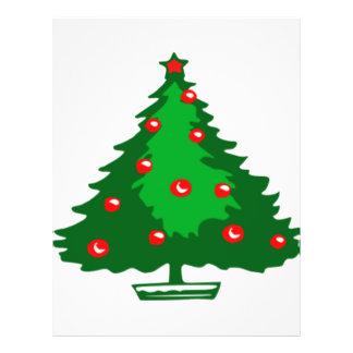Árbol de navidad tarjetas informativas