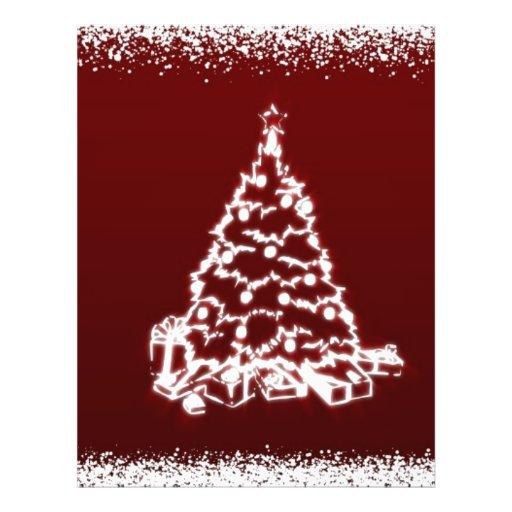 """árbol de navidad folleto 8.5"""" x 11"""""""