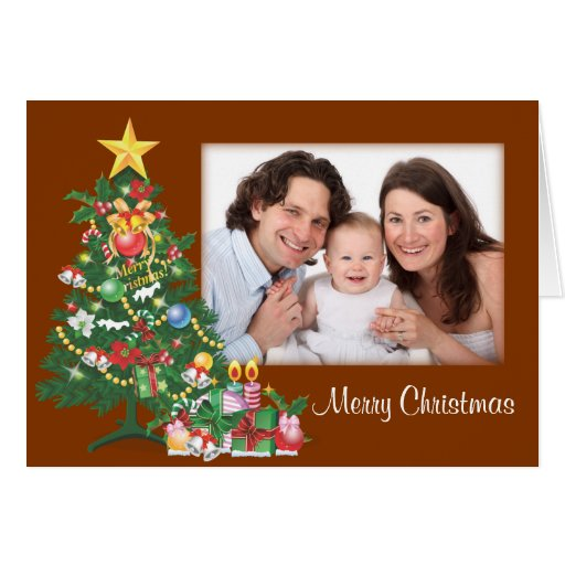 Árbol de navidad/foto tarjeta de felicitación