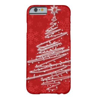 Árbol de navidad garabateado funda de iPhone 6 barely there