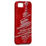 Árbol de navidad garabateado iPhone 5 cárcasas