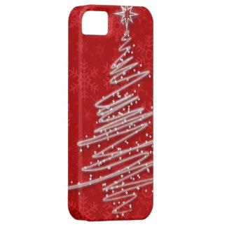 Árbol de navidad garabateado iPhone 5 funda