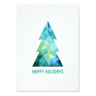 """Árbol de navidad geométrico abstracto invitación 5"""" x 7"""""""