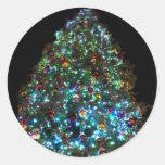 Árbol de navidad gigante IIII Pegatina Redonda