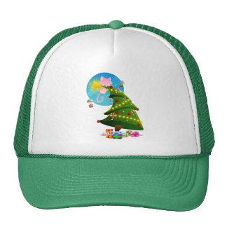Árbol de navidad gorra
