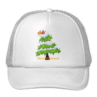 Árbol de navidad gorras de camionero