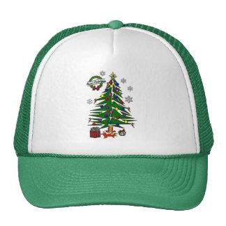 Árbol de navidad gorros