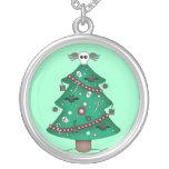 Árbol de navidad gótico lindo collar personalizado