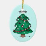 Árbol de navidad gótico lindo ornamento para reyes magos