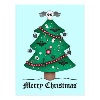Árbol de navidad gótico lindo postal