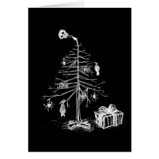 Árbol de navidad gótico tarjeta de felicitación