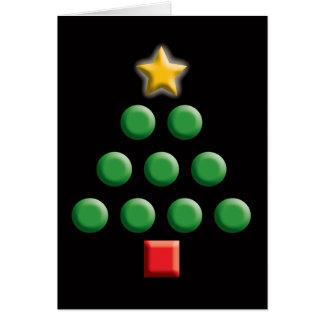 Árbol de navidad gráfico tarjetón