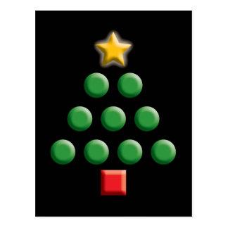 Árbol de navidad gráfico postales