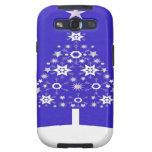 Árbol de navidad hecho de copos de nieve en Backgr Samsung Galaxy S3 Funda