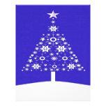 Árbol de navidad hecho de copos de nieve en Backgr Membrete Personalizado
