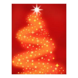Árbol de navidad hecho de estrellas tarjeton
