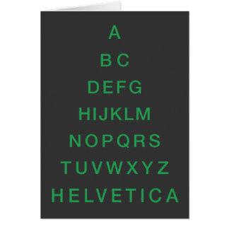 Árbol de navidad Helvética del alfabeto Tarjeta Pequeña