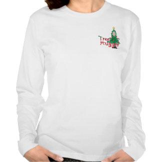 Árbol de navidad Hugger Camisetas