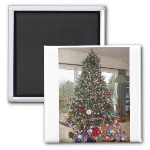 Árbol de navidad imán cuadrado