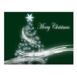 Árbol de navidad imperecedero elegante con la estr postal