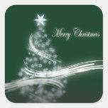Árbol de navidad imperecedero elegante con la calcomanías cuadradases