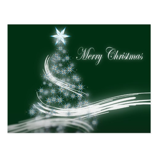 Árbol de navidad imperecedero elegante con la tarjeta postal