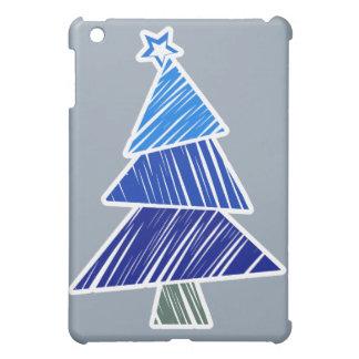 Árbol de navidad incompleto azul