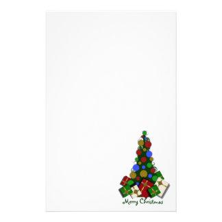 Árbol de navidad inmóvil papelería de diseño