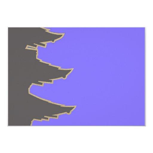 """Árbol de navidad invitación 5"""" x 7"""""""