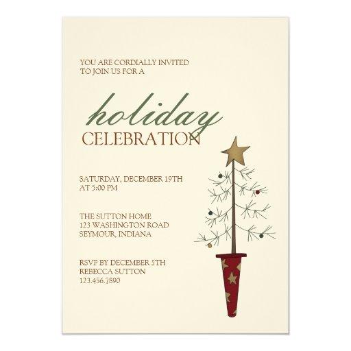 Árbol de navidad · Invitación del navidad