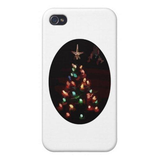 Árbol de navidad iPhone 4/4S carcasa