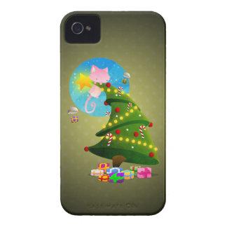 Árbol de navidad iPhone 4 fundas