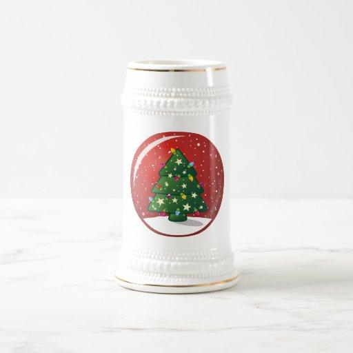 Árbol de navidad jarra de cerveza