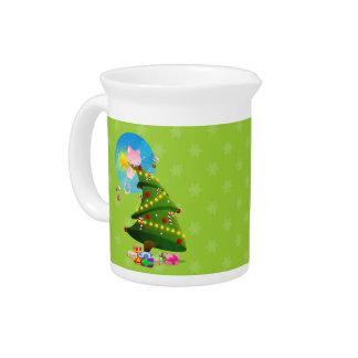 Árbol de navidad jarras de beber