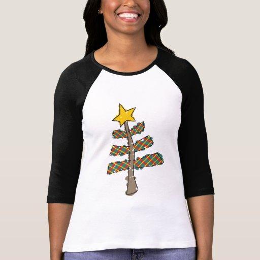 Árbol de navidad lindo camisetas