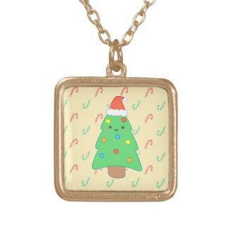 Árbol de navidad lindo colgante cuadrado